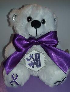 6 Inch Purple Lupus Awareness Teddy Bear #2