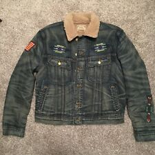 Polo Ralph Lauren Southwestern Aztec Shearling Denim Trucker Jacket $649.99