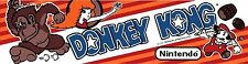 Donkey Kong Nintendo Arcade Marquee For Reproduction Header/Backlit Sign