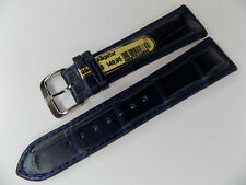 Mens Di-Modell Blue Padded Genuine Alligator 22mm Watch Band w/Silver Buckle