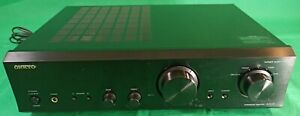 ONKYO Black Stereo Integrated Amplifier Model A-9155 Tested