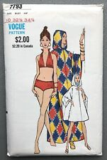 More details for vintage vogue swimsuit bathing suit swimming costume sewing pattern 7793