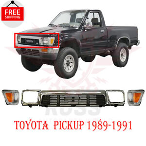 For 1989-1991 Toyota Pickup 4Wd Grille Headlamp Door Cornering Lamp Assembly 5pc