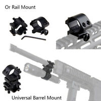 """Tactique 45°&1"""" 25.4mm Bague Lampe de poche Portée Laser Fusil à pompe Fusil"""