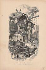 Freiburg im Uechtland Fribourg Friburgo DRUCK von 1895 Schweiz