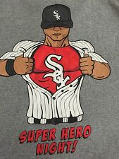 Vtg. Chicago White SOX Super Hero Night BASEBALL TSHIRT MENS Extremely Rare  XL.