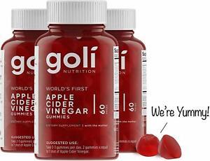 Apple Cider Vinegar Gummy Vitamins by Goli Nutrition - 3 Pack - 180 Count