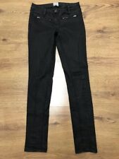 "RIVER ISLAND Womens Slim Skinny Black Jeans 10UK Waist 30"" Inside Leg 32"""