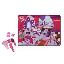 My Little Pony Toy Hair Salon Game Rug Set 31.5'' x 44'' Hairdryer Comb Mirror