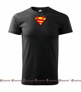 T-SHIRT Unisex SUPERMAN GIROCOLLO MAGLIA MAGLIETTA SUPERMAN