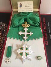 Cmpleto da Gran Croce dell'Ordine dei Santi Maurizio e Lazzaro in argento 925