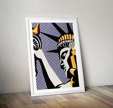 Roy Lichtenstein Statue of Liberty Print, Pop Art Print, Gun Poster, Wall Art