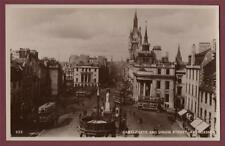 Aberdeen. Castlegate & Union Street.   RP unused  photograph postcard     ca.155