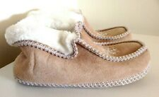 Natural Moccasin Boot Womens Mens Slippers Shoes Boots Wool Warm Cozy UK 10
