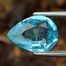 Apatite Naturale Non trattata 1, 33 Ct.Pera Neon blu Brasile Collezione privata