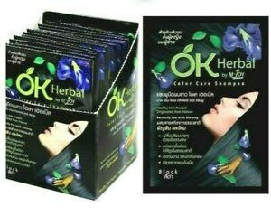 OK Herbal Easy White Hair Cover Shampoo Last Long Color Changed Ammonia Free x6