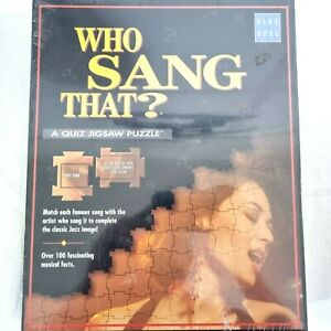 Who Sang That Quiz Jigsaw Puzzle Music Trivia Board Game 1998 Vintage Blue Opal