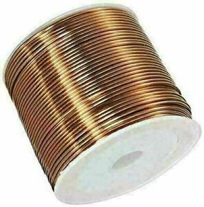 16 5/12-2460 8/12ft Copper Wire Ø 0.0039-0 1/32in Cu 99.9% Paint W-Nr 2.0090