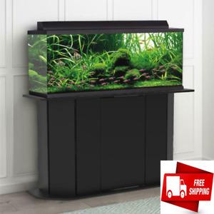 Deluxe 55 Gallon Aquarium Stand Storage Cabinet Fish Tank Holder Wood Doors