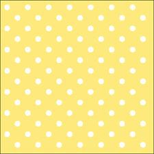 Papierservietten - Servietten Dots Yellow Ostern Frühjahr Sommer ca.33x33cm