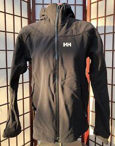 Helly Hansen Interface Waterproof Windbreaker Rain Jacket Women Sz S Small Black