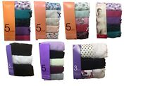 NEW 5 PACK LADIES BHS COTTON FULL BRIEFS/ HIGH LEG/LACE /MIDI BRIEFS SIZE 8-22