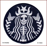 Dead Barista Starbucks Sirena Rockabilly Horror Tatuaje Punk Gótico Parche