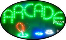 """US Seller Animated ARCADE Led Sign neon lighted. Video inside.  21""""x13-1/2"""""""