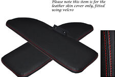 RED STITCHING FITS FIAT 500 CLASSIC 2X SUN VISORS LEATHER COVERS ONLY