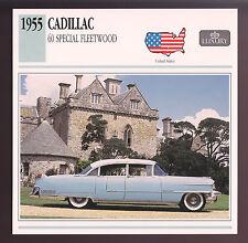 1955 Cadillac 60 Special Fleetwood 331 Car Photo Spec Sheet Info Stat ATLAS CARD