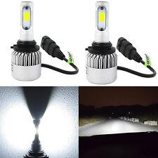 Alla Lighting 8000lm COB Super White Mini 9012 LED Headlight Conversion Kit Bulb
