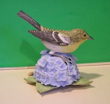 LENOX YELLOW THROATED VIREO Garden Bird sculpture NEW in BOX with COA