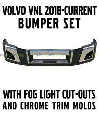 NEW Volvo VNL 2018 2019 2020 Bumper Set Left Right Center Chrome Trim Fog Light