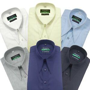 Spearpoint collar shirt for Men 100% Cotton Goodfellas Long point Dagger collar
