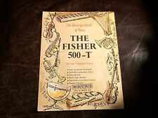 Fisher 500-T Receiver ADVERTISEMENT vintage ad