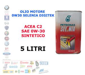 OLIO MOTORE AUTO BENZINA 0W30 SELENIA DIGITEK ACEA C2  5 LT LITRI