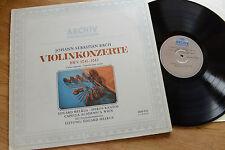 BACH Violin Concertos MELKUS RANTOS BWV 1041-43 ARCHIV 2533 075 LP