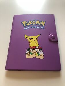 Pikachu And Ash Orginal 1999 Pokemon Card Folder.  Rare And Collectible!