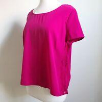 Tokito City Plus Size 16 Pink Purple Lace Loose Top Womens Short Sleeve Shirt