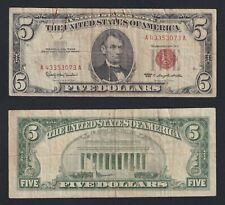 United States - 5 dollars Red Seal 1963  BB-/VF-  B-09