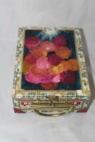 Vintage Hand Painted Romeo Y Julieta Lined Cigar Box