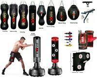 Maxx® 4ft 5ft 6ft Filled Hanging Boxing bag Punch Bag Set Heavy Punchbag Ufc Bag