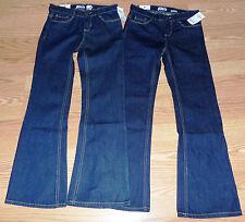NWTs Lot 2 Girls OshKosh B'gosh Blue Jeans Size 12S Boot Cut E-Z Adjust Waist