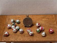 Vintage Artisan Hand Painted Christmas Tree Ornaments Dollhouse Miniature 1:12