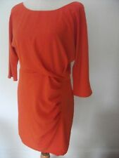 Ladies Orange Ruche Tunic Dress per Una Marks and Spencer Size 12 Gbp35
