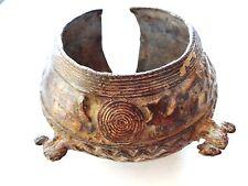 Exquisite Bronze Bracelet Gan Burkina Faso w/Chameleons