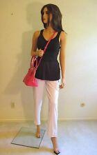 LULULEMON 10 Pink LINED RISE & SHINE REFLECTIVE Walking Golf Travel Pants~SOLD O