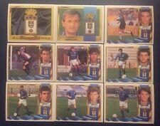 LOTE DE 21 CROMOS REAL OVIEDO ESTE 95-96, SIN PEGAR,DIFERENTES, 4 COLOCAS, LEER.