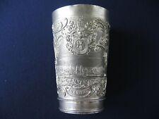 Jugendstil Zinn Becher Hameln Juwelier C.F. Kindermann um 1900 Gesetzl Geschützt