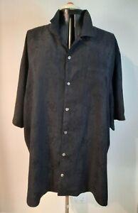 TOMMY BAHAMA ~ Mens Black Silk Woven Hibiscus Tropical Hula Hawaiian Shirt 3XL